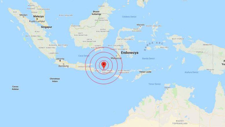 Endonezya'da 6,9 büyüklüğünde deprem
