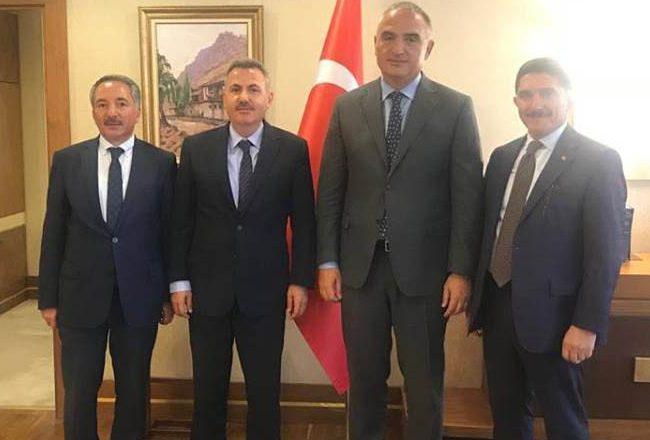 Ağrı'dan Kültür ve Turizm Bakanı ERSOY'a Ziyaret
