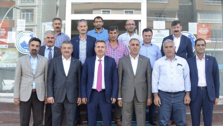 Ağrı Valisi Elban'dan,ATSO'ya Ziyaret