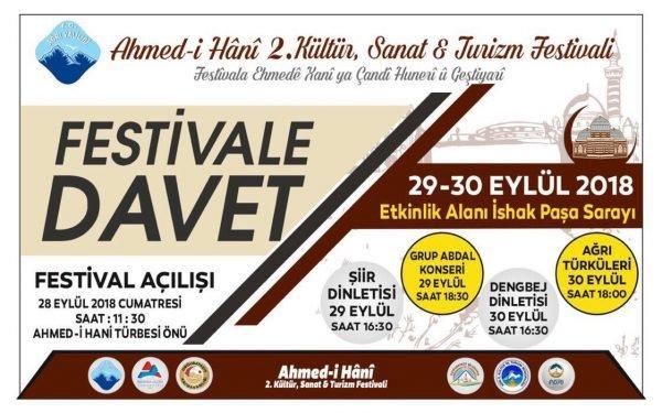 Ahmed-i Hani 2. Kültür, Sanat ve Turizm Festivali