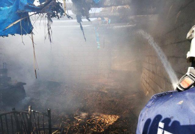 Ağrı-Doğubayazıt'ta  Yangın Mahalleyi Korkuttu.
