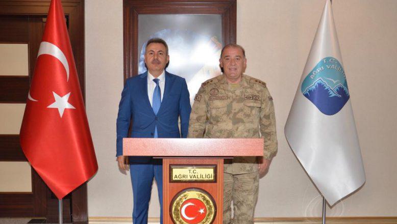 Tümgeneral Hacıoğlu'ndan Vali Elban'a Ziyaret