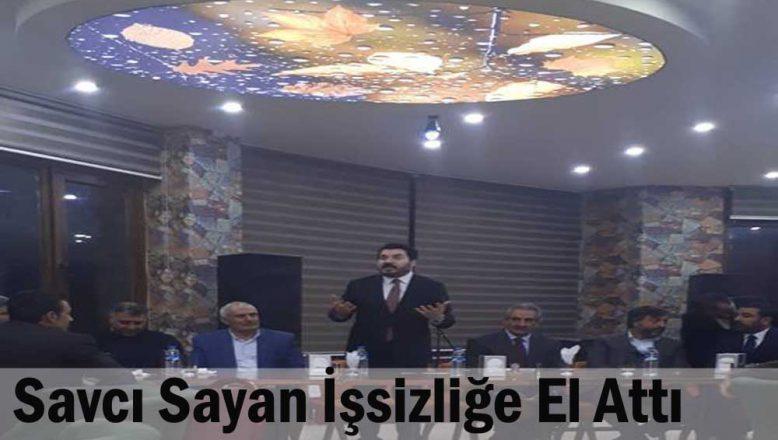 Ağrı Ak Parti Adayı Sayan, İşsizliğe El Attı!