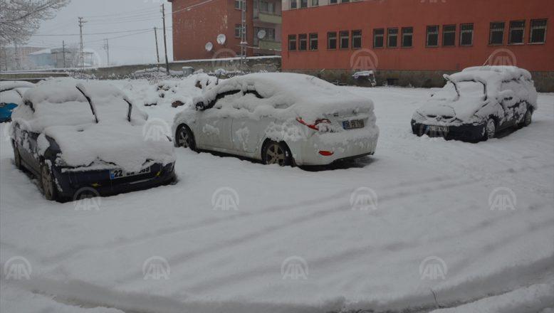 Ağrı'da kar yağışı 387 köy yolunu kapadı