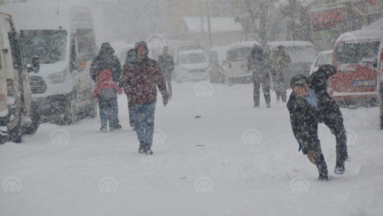 Ağrı'da Kar Yağışı Nedeniyle Hayat Durma Noktasında