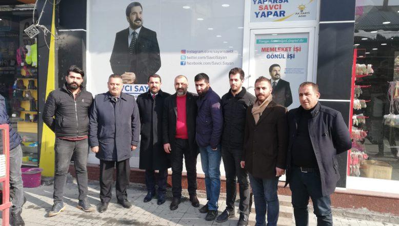 OGC Genel Başkanı Aydın, Sayan'a Seçim Ofisinde Bir Ziyaret Gerçekleştirdi