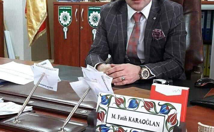 Fatih Karaoğlan'a, AİÇÜ Rektörü Karabulut Tarafından Daire Başkanlığı Görevi