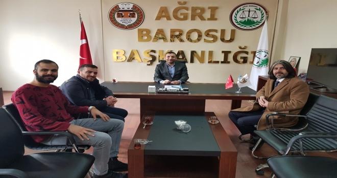 Taner Söylemez'den Ağrı Baro Başkanı Aydın'a Ziyaret