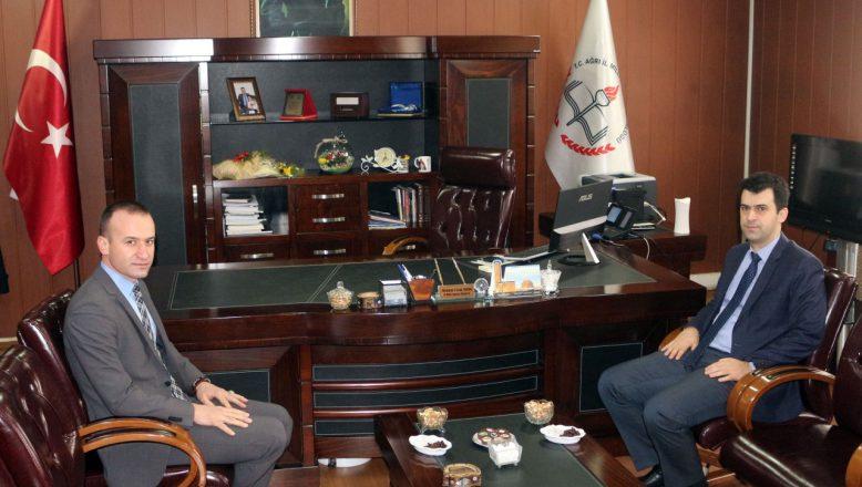Ağrı Vali Yardımcısı Sarı'dan İl Milli Eğitim Müdürü Tekin'e ziyaret