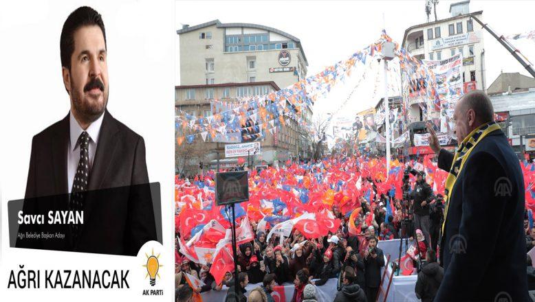 Cumhurbaşkanı Erdoğan; Savcı Sayan kardeşimizin, söz konusu Ağrı olduğunda bu ülkede açamayacağı  hiçbir kapı yoktur