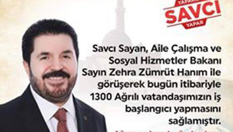 Savcı Sayan'dan 1300 kişiye daha iş imkanı