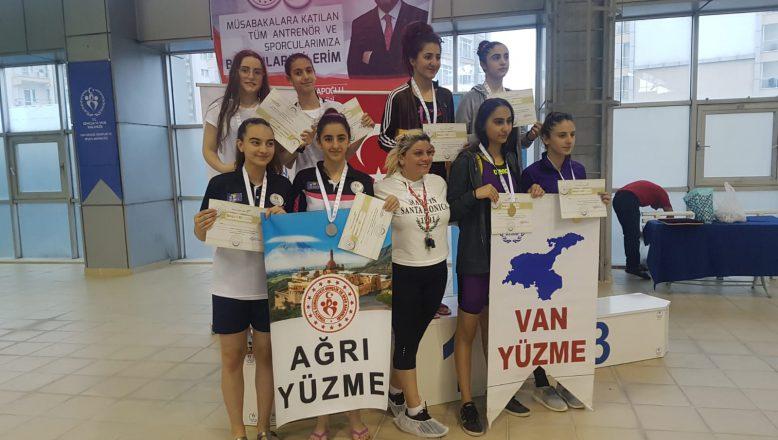 AĞRI'LI Yüzücülerden 64 Madalya