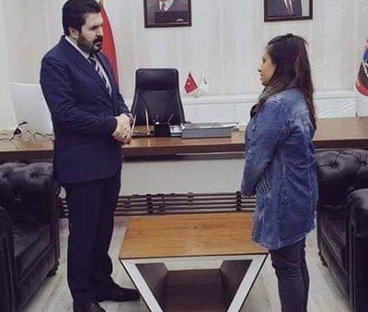 Başkan Sayan'dan Kız Öğrenciye Şefkat Eli Uzandı