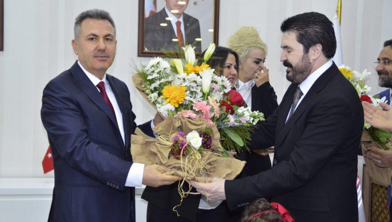 Ağrı Belediye Başkanı Sayan, Başkan Elban'dan Görevi Devraldı