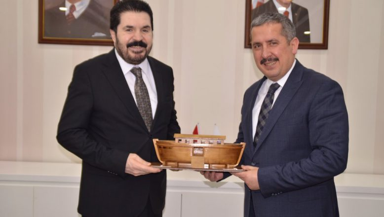 Mahmut Gürcan'dan, Başkan Sayan'a Hayırlı Olsun Ziyareti