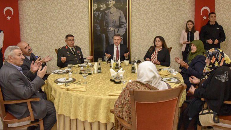 Vali Elban, Şehit Aileleri ve Gazilerle İftarda Buluştu