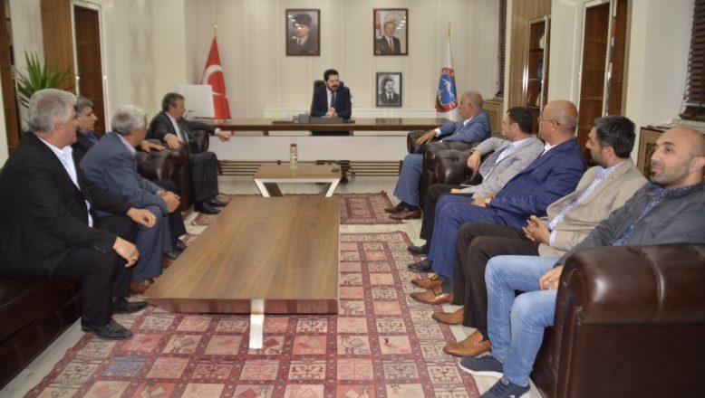 Başkan Sayan'a, STK, Kurum ve Kuruluşlardan Hayırlı Olsun Ziyareti
