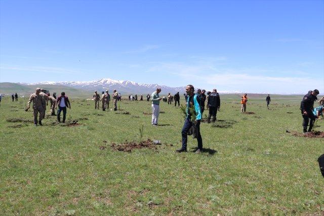 Ağrı'da Adalet Ormanına 2500 Fidan Dikildi