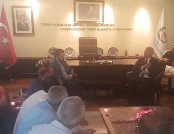 Başkan Sayan, Kardeş Belediye Denizli Belediye Başkanı Zolan'la Bir Araya Geldi