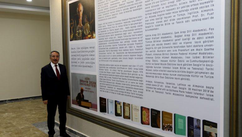 Prof. Dr. Fuat Sezgin'in Adı Ağrı İbrahim Çeçen Üniversitesinde Yaşatılacak