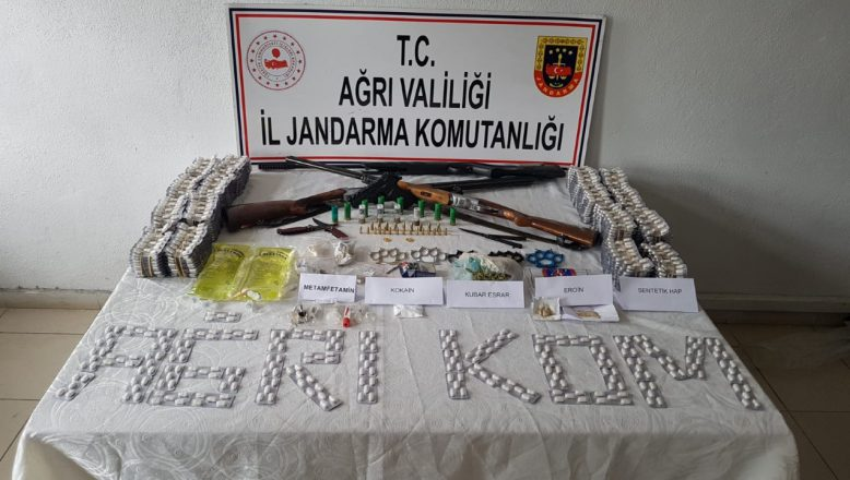 Doğubayazıt'ta uyuşturucuya göz açtırılmıyor 18 gözaltı