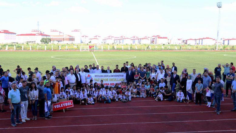 Ağrı İbrahim Çeçen Üniversitesinde Yaz Spor Okulları Açıldı