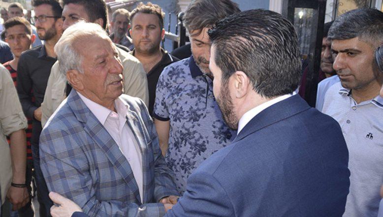 Başkan Sayan'dan, Acılı Baba Ali Efe'ye Taziye Ziyareti