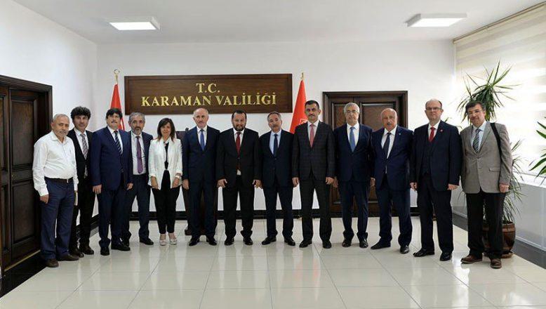 AİÇÜ Rektörü  Karabulut,  Karamanoğlu Mehmetbey Üniversitesinde Gerçekleşen Rektörler Toplantısına Katıldı