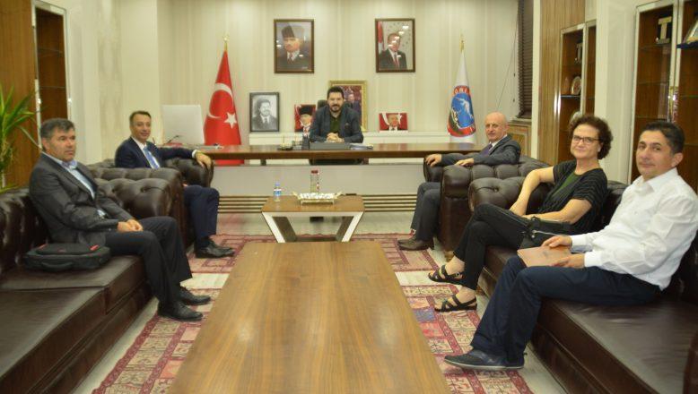 Başkan Sayan'a, Türkiye Belediyeler Birliği (TBB) Genel Sekreter Yardımcısı Kazan'dan Ziyaret