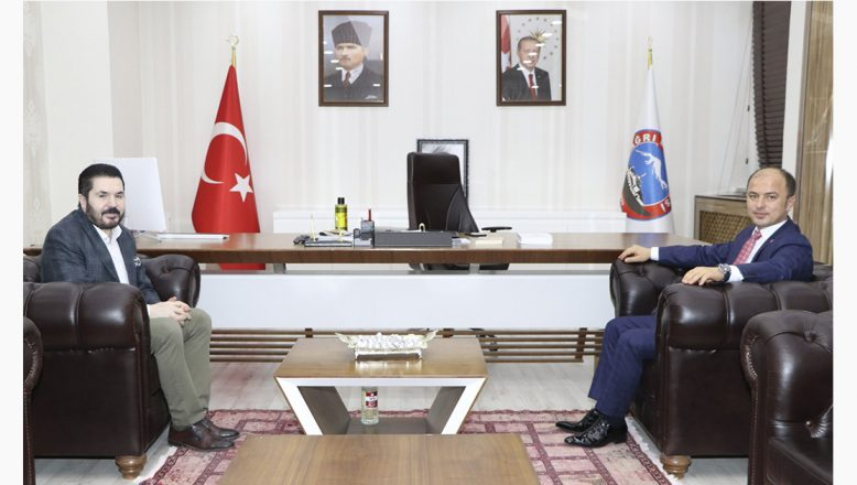 Ağrı Cumhuriyet Başsavcısı Hasan Turgut'tan Başkan Sayan'a Ziyaret