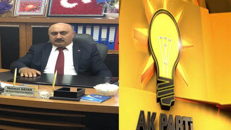 Ak Parti Tutak İlçe Başkanı Sayan'dan Kurban Bayramı Mesajı
