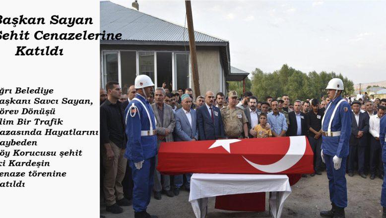 Başkan Sayan, Şehit Cenazelerine Katıldı