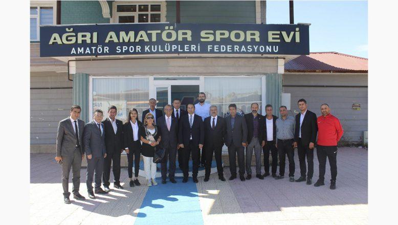TFF Temsilciler Kurulu Başkanı Abdurrahman Arıcı'dan Ağrı ASKF'ye Ziyaret