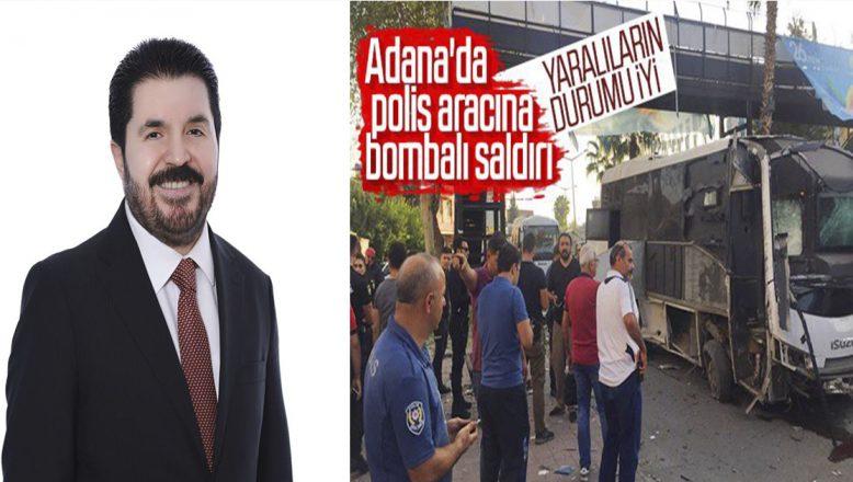 Başkan Sayan'ın: Adana'daki  hain saldırıyla ilgili dikkat çekici mesajı