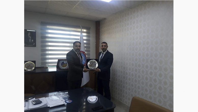 Ağrı Baro Başkanı Av. Salih Aydın'dan Başkan Yardımcısı Ahmet Tunç'a Ziyaret