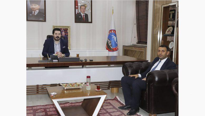 Ağrı Baro Başkanı Aydın'dan, Başkan Sayan'a Ziyaret