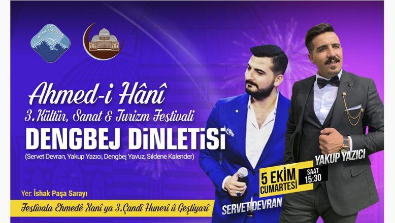Ünlü Dengbejler Ahmed-i Hani Festivalinde Sahne Alıyor