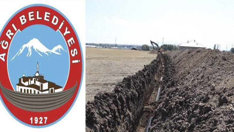 Ağrı Belediyesi Altyapı Sorunlarını Çözüyor