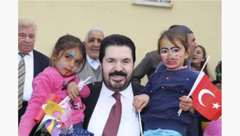 Başkan Savcı Sayan Cumhuriyet Bayramında Çocuklarla Kütüphane Açılışı Yaptı