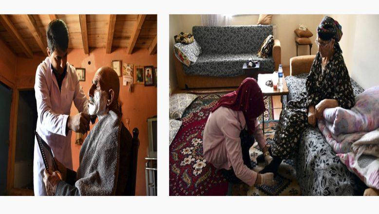 """Doğubayazıt'ta yardıma muhtaç yaşlılar """"Evde Bakım"""" projesiyle hayata tutunuyor"""