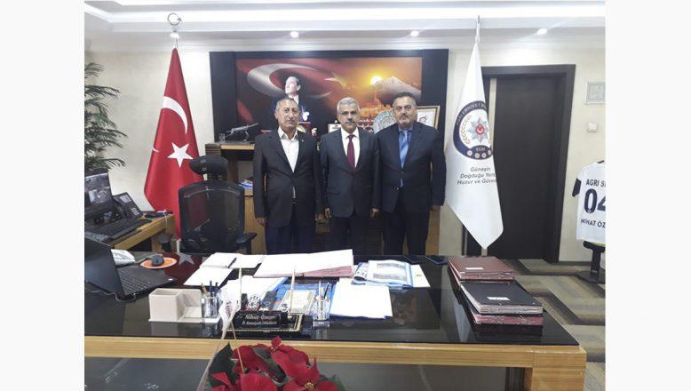 Cemiyet Başkanlarından Ağrı Emniyet Müdür'ü Özen'e Ziyaret