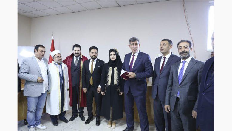 TBB Başkanı Feyzioğlu,OGC Genel Başkanı Aydın'ın Kızına Nikah Şahitliği Yaptı