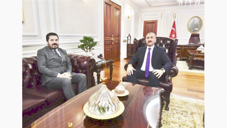 Başkan Sayan'dan, Adalet Bakanı Gül'e Ziyaret