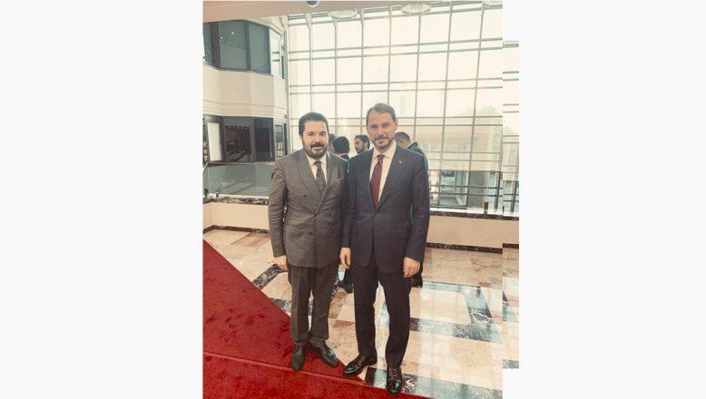 Ağrı Belediye Başkanı Sayan, Maliye Bakanı Albayrak'ı Ziyaret Etti