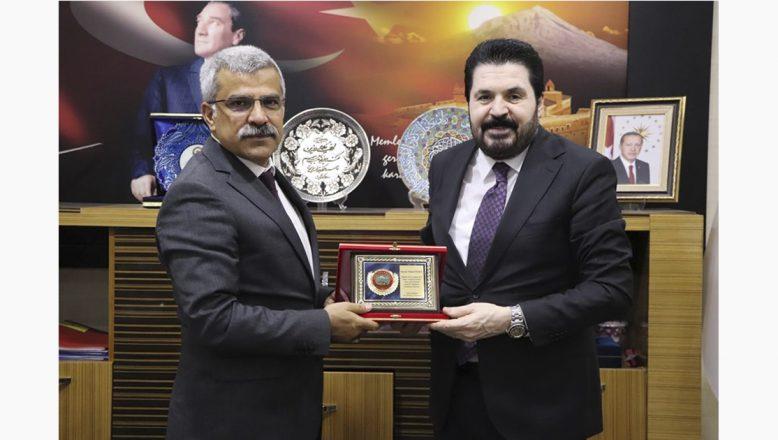Başkan Sayan'dan,Ağrı İl Emniyet Müdürü Özen'e Ziyaret