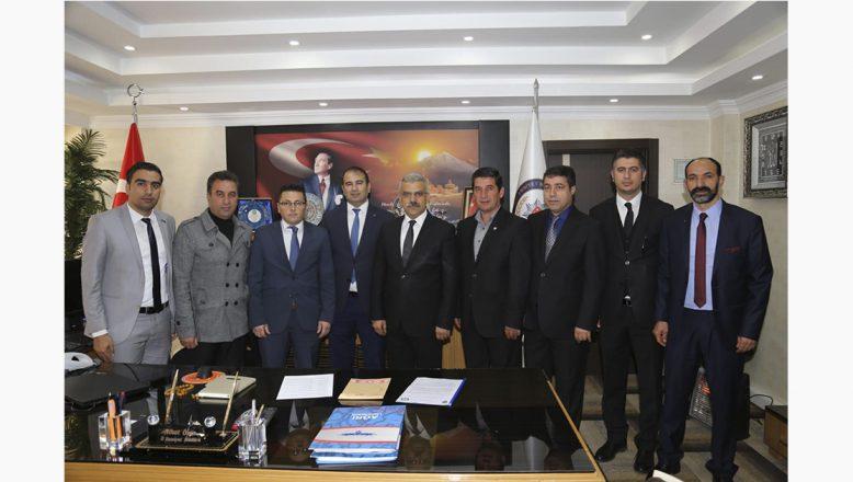 Ağrı'nın Spor Taban Birliklerinden İl Emniyet Müdürü Nihat Özen'e Ziyaret