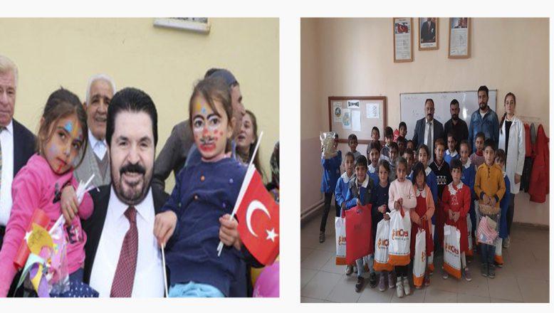 Başkan Sayan'dan miniklere çifte mutluluk