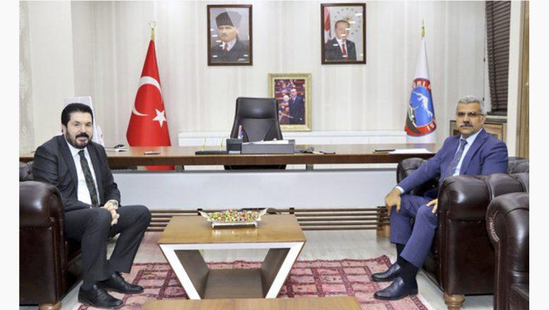 Ağrı İl Emniyet Müdürü Özen'den, Başkan Sayan'a Ziyaret