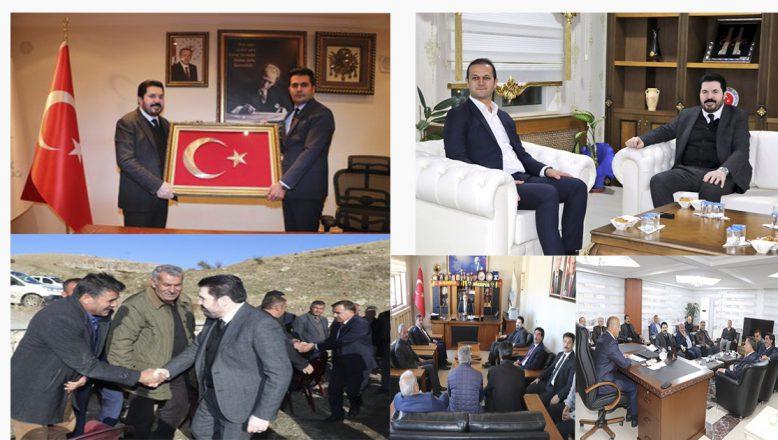 Başkan Sayan'ın yoğun ziyaret trafiği