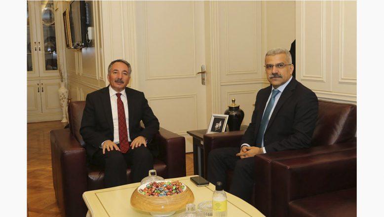 Ağrı İl Emniyet Müdürü Özen'den AİÇÜ Rektörü Karabulut'a Ziyaret